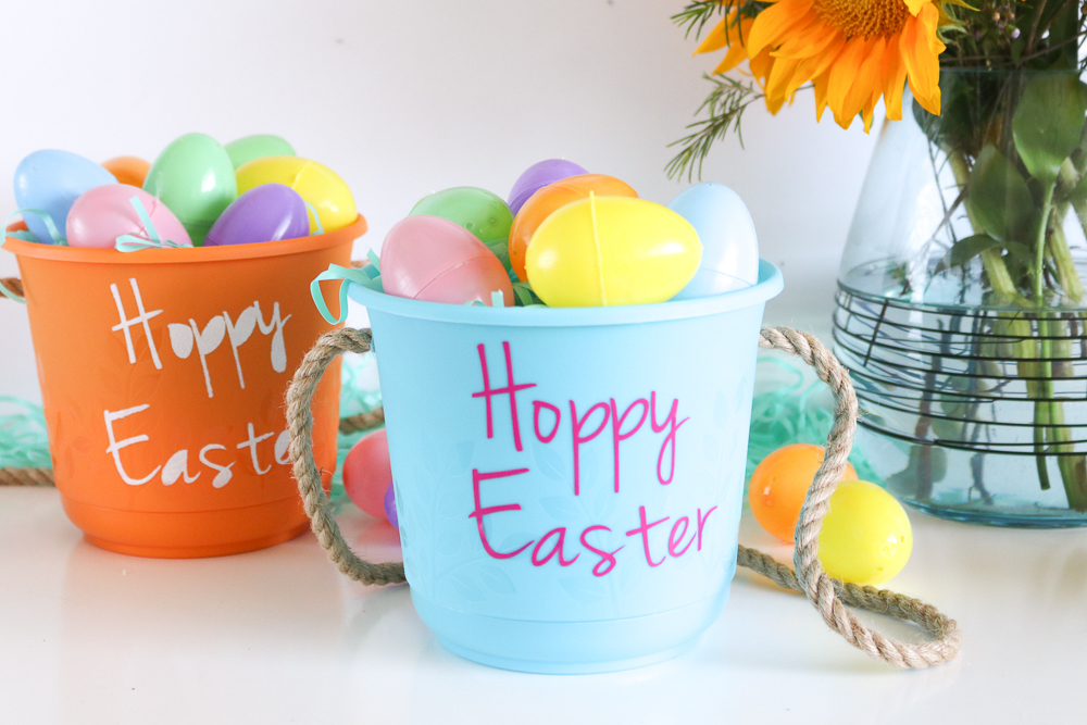 Dollar DIY: How to Make Easter Baskets from Dollar Store Pots