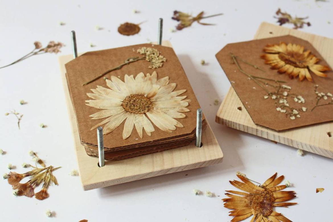 Press flowers and keep them long-term by making a flower press