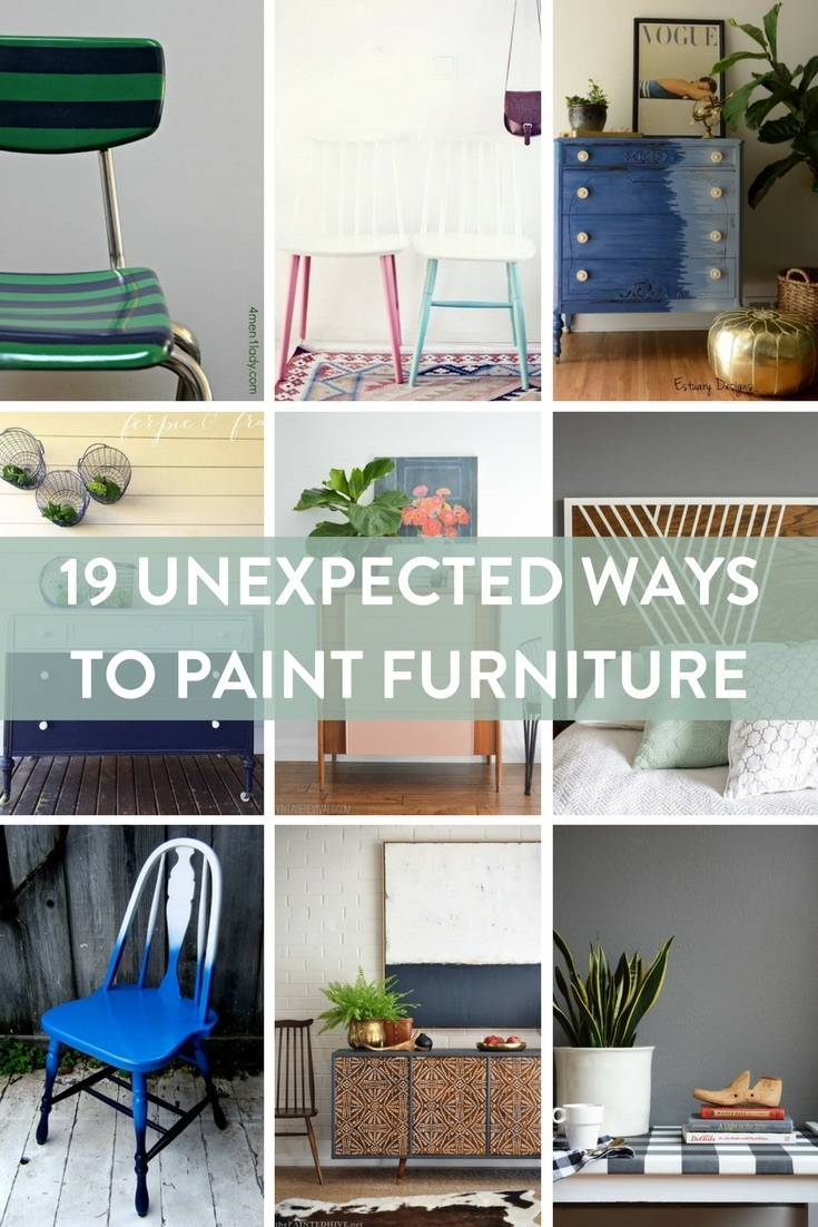 19 Unexpected Ways to Paint Furniture