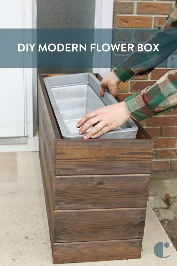 DIY Modern Flower Box