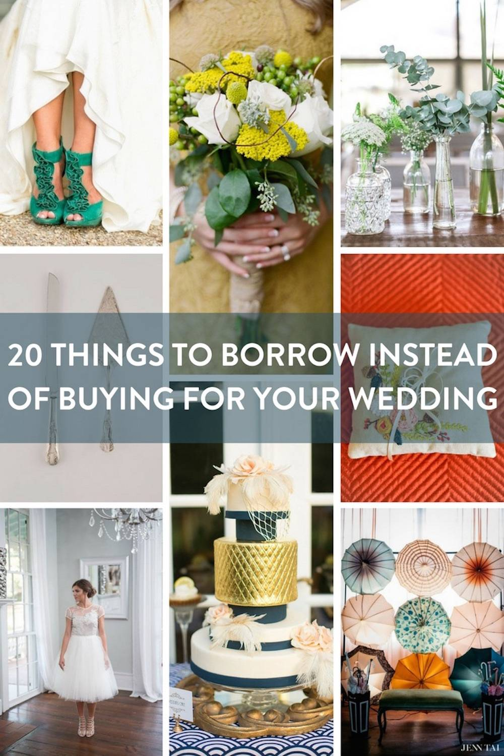 20 Things to Borrow Instead of Buy For Your Wedding