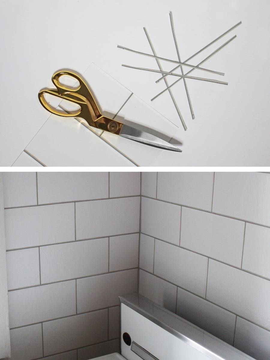 How to install removable wallpaper into your rental kitchen: Step 4