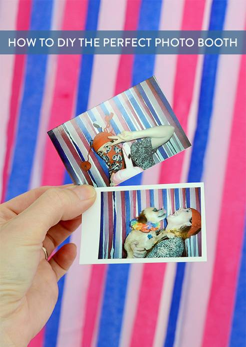 How To Make A DIY Photo Booth For Your Wedding Or Party