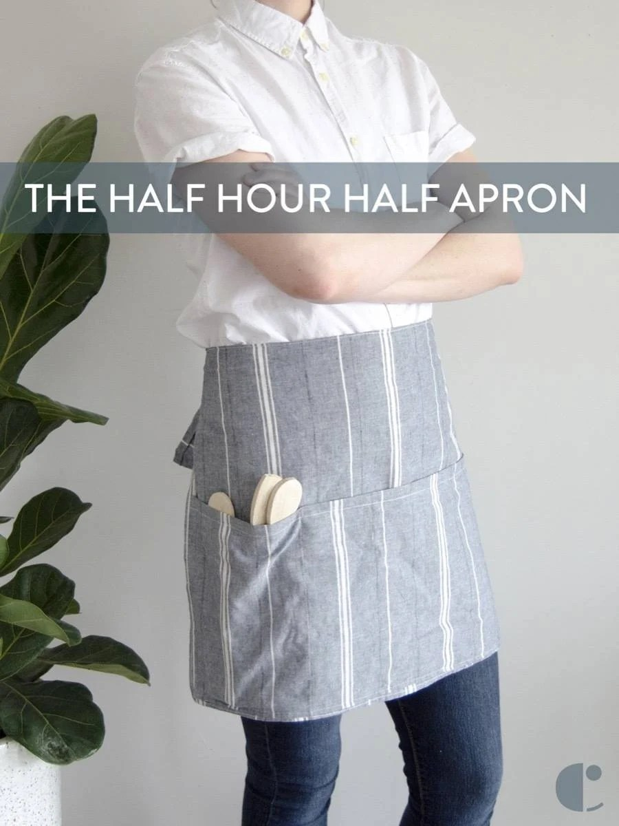 Half Apron Tutorial: If you have 30 minutes, you can make this short apron.