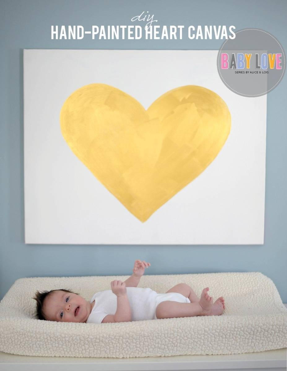 Wall art idea from Alice & Lois | 75 DIY Kids Decor Ideas
