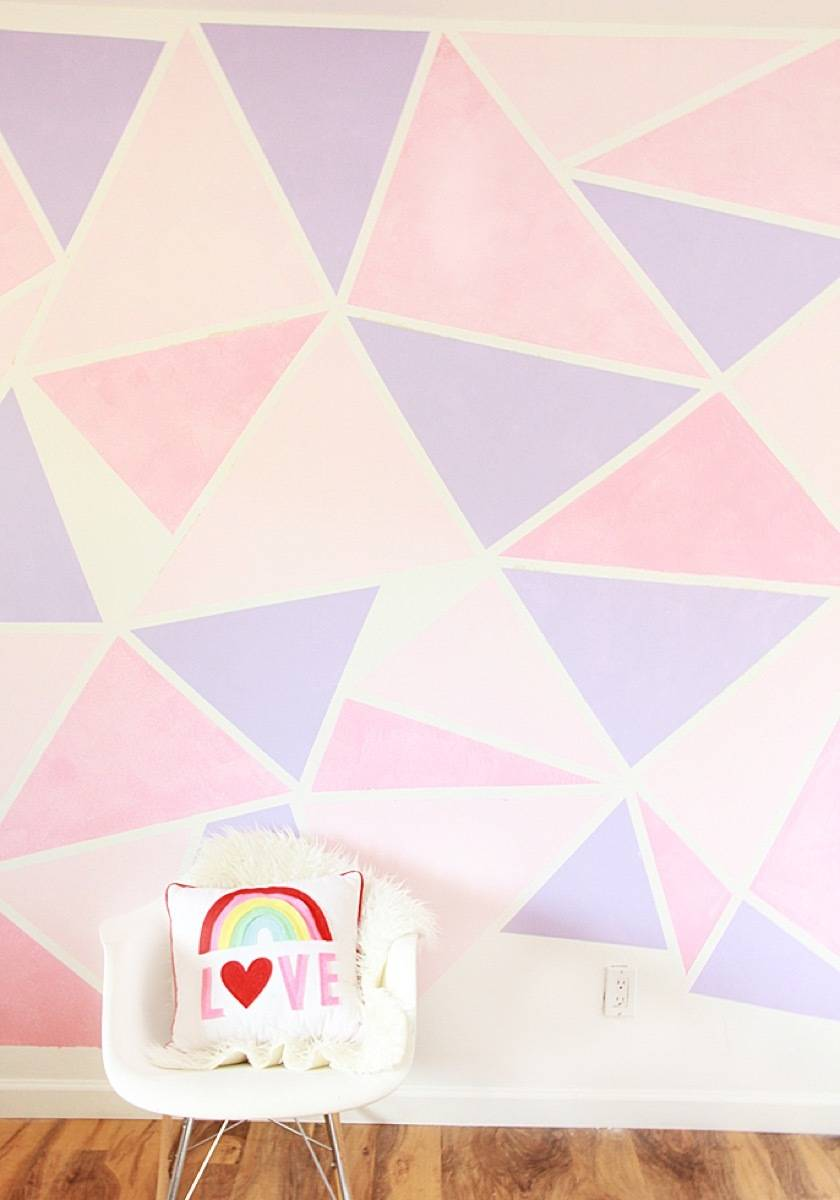 Wall art idea from A Bubbly Life | 75 DIY Kids Decor Ideas