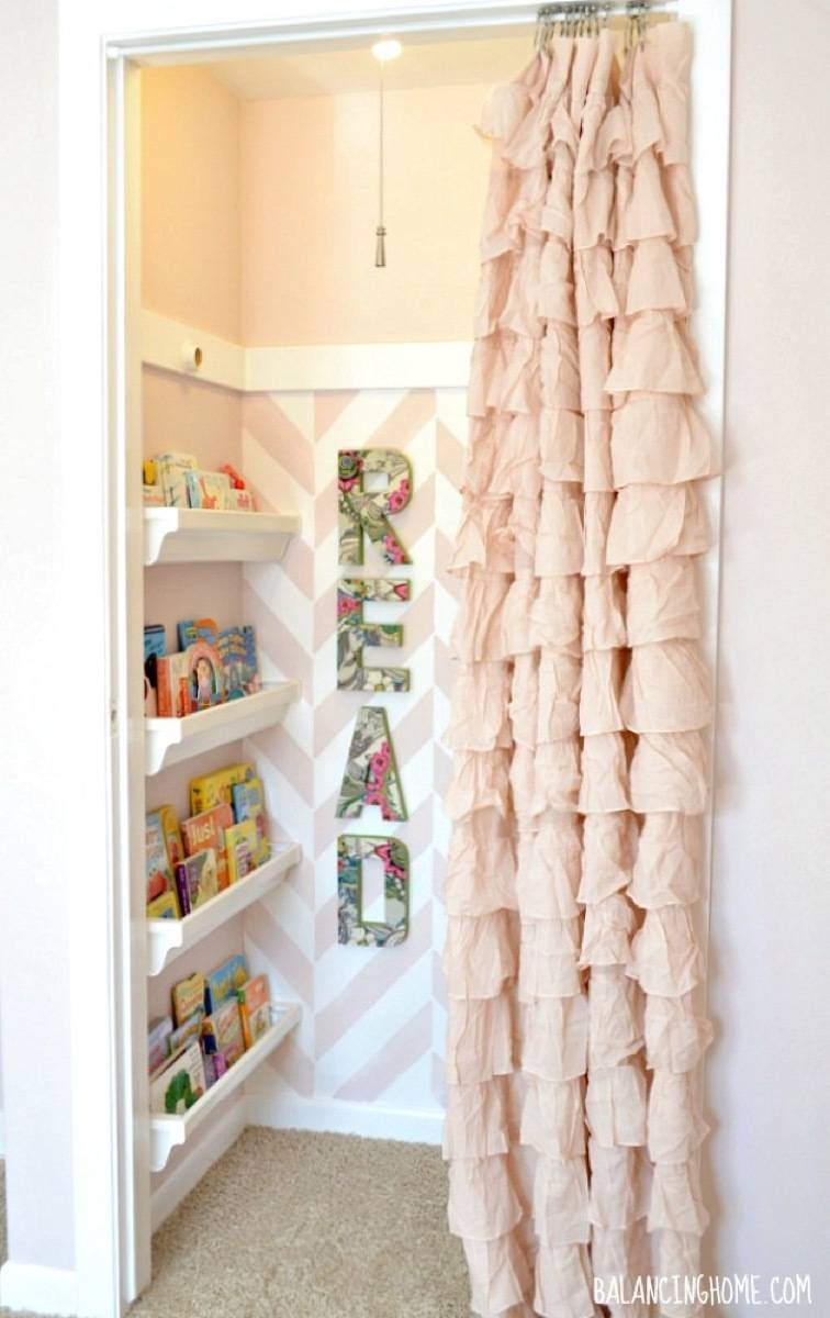 Storage solution from Balancing Home | 75 DIY Kids Decor Ideas