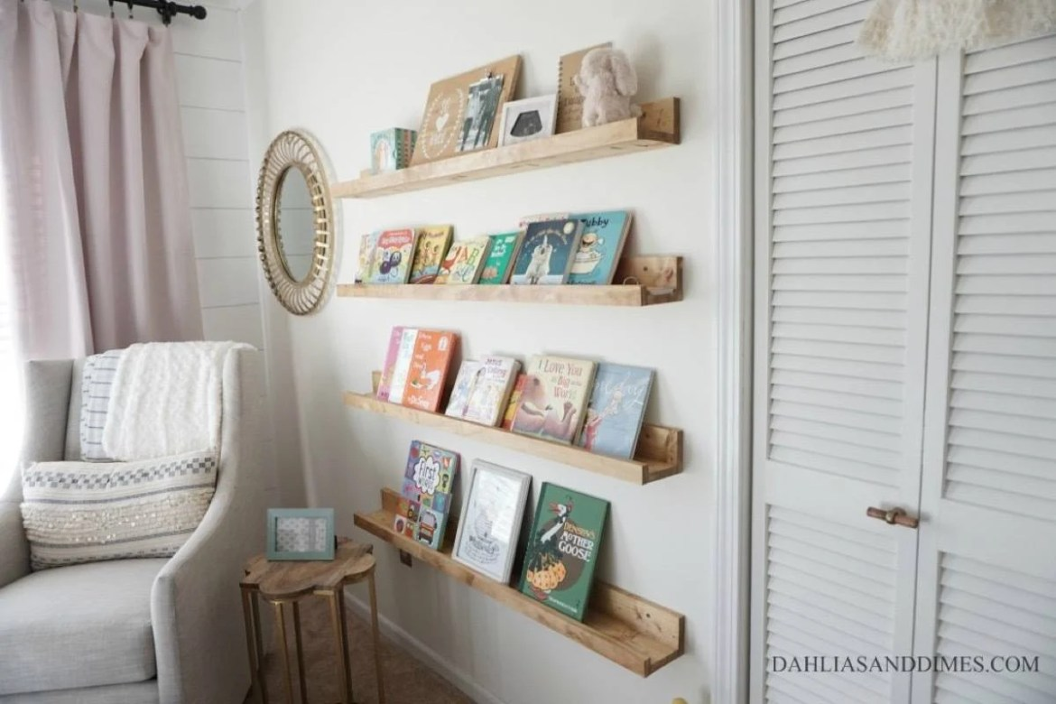 Storage solution from Dahlias and Dimes | 75 DIY Kids Decor Ideas