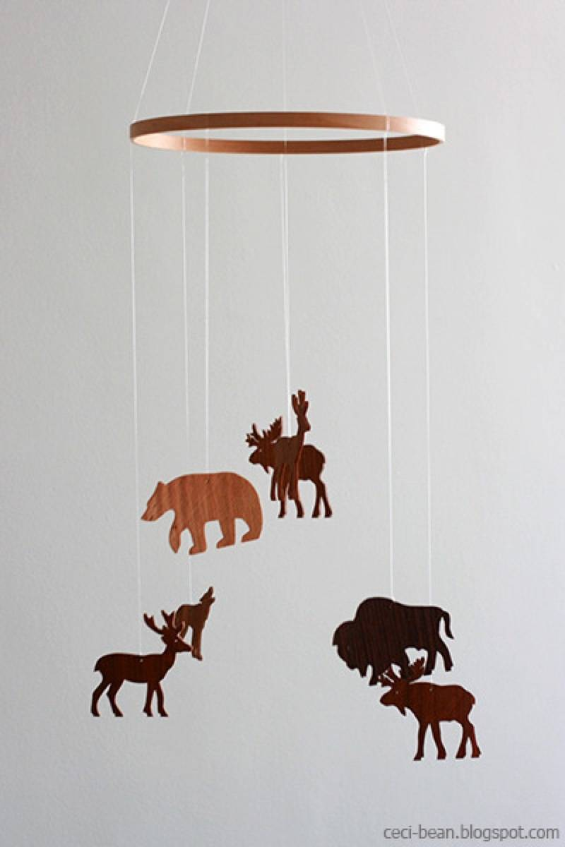 Baby's mobile idea from Ceci Bean | 75 DIY Kids Decor Ideas