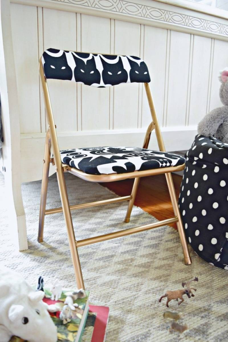 Chair makeover idea from Houseologie | 75 DIY Kids Decor Ideas