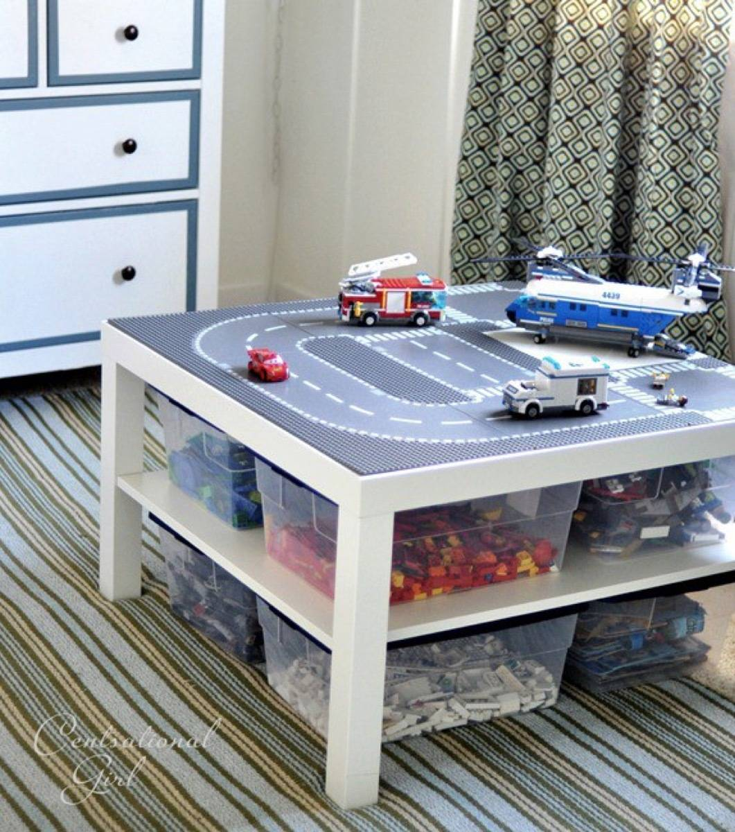 Lego table idea from Centsational Girl | 75 DIY Kids Decor Ideas