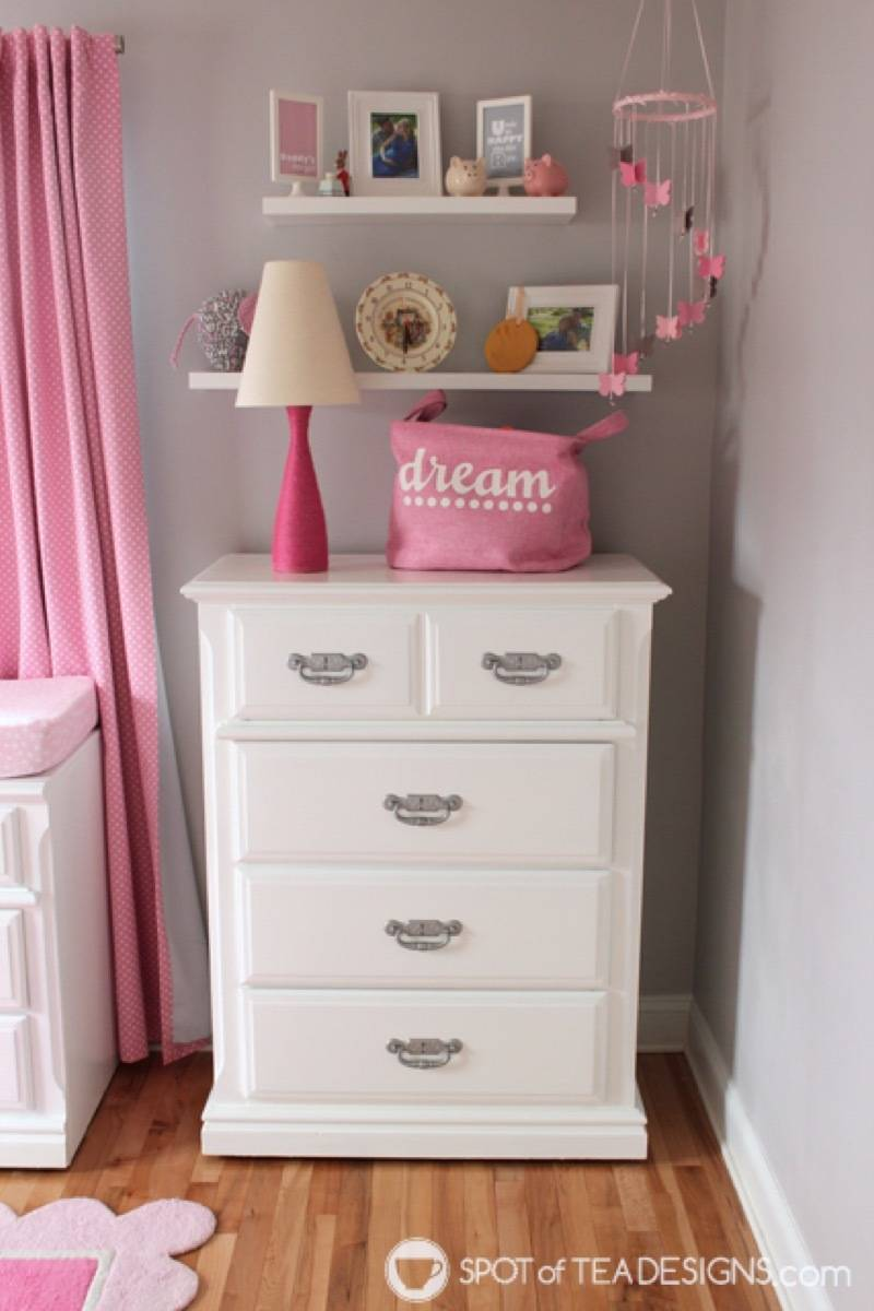 Dresser makeover from Spot of Tea Designs | 75 DIY Kids Decor Ideas