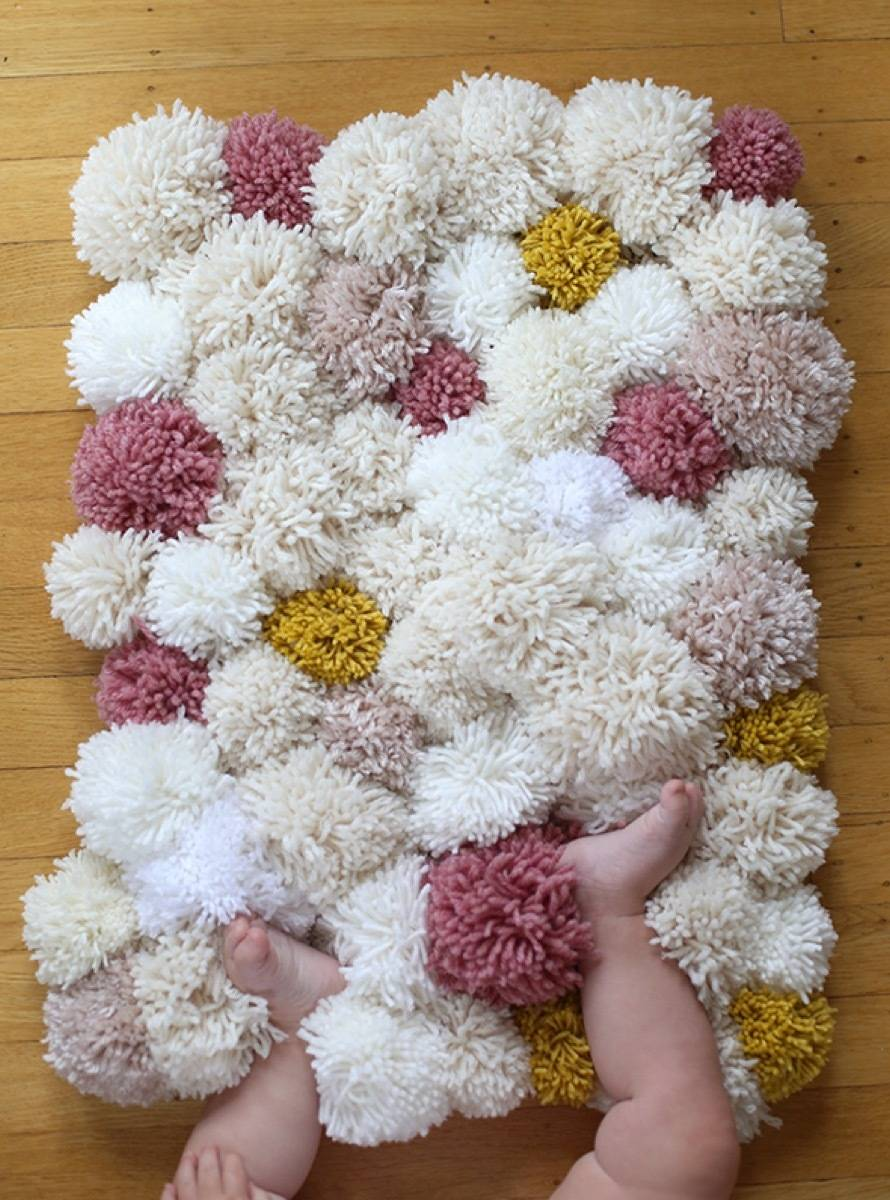 Colorful rug idea from Say Yes | 75 DIY Kids Decor Ideas
