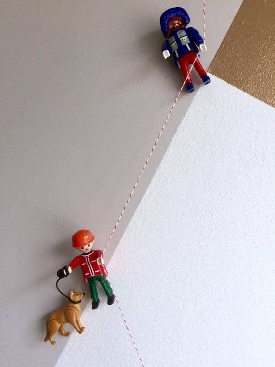 Wall art idea from Curbly | 75 DIY Kids Decor Ideas