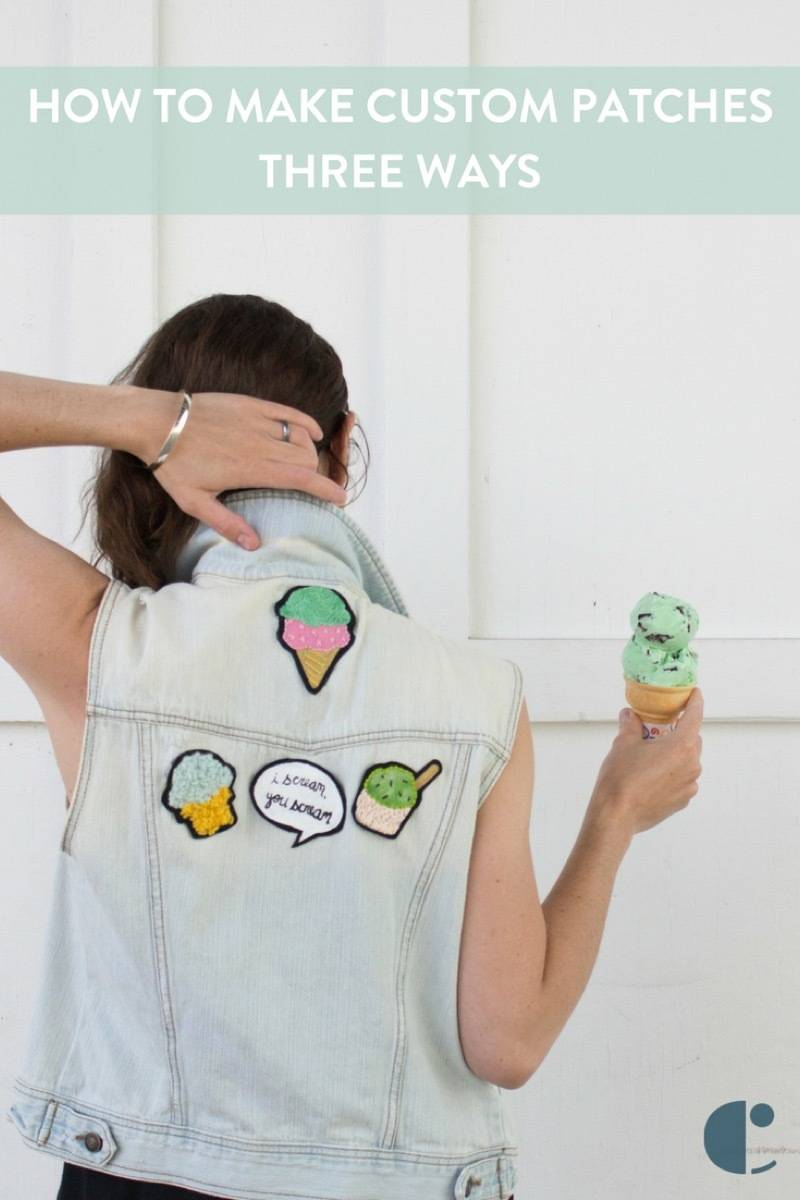 How to make custom patches - and ours are all about ice cream!