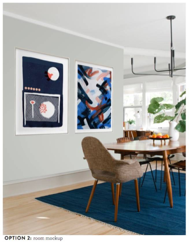 Curbly Dining Room Art Accent Wall, Option 2