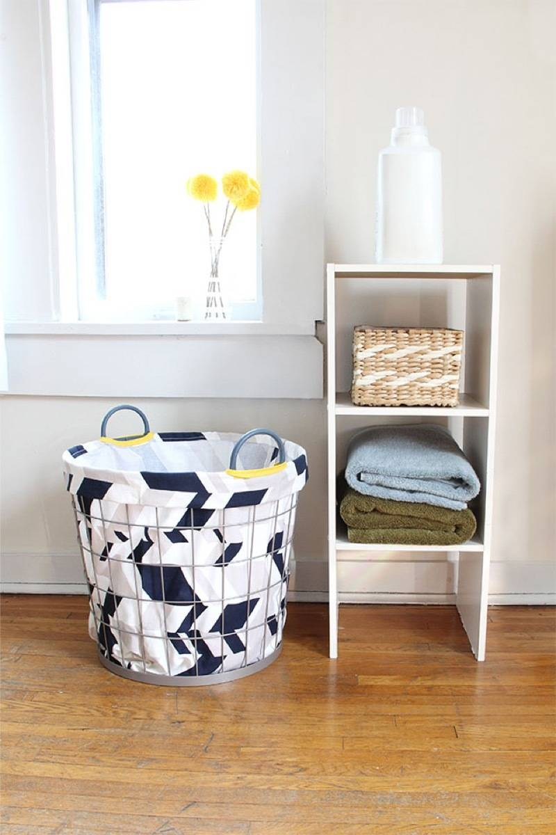 99 ways to use fabric to decorate your home   How to make a basket liner