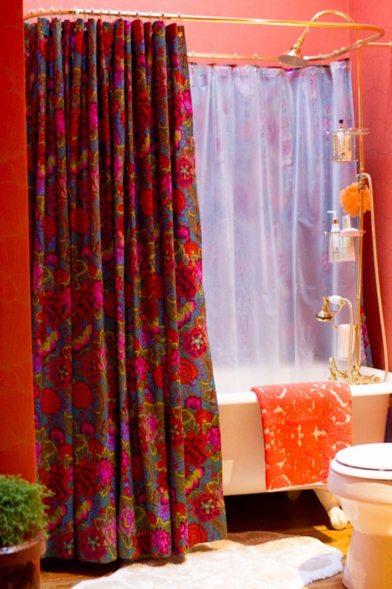 99 ways to use fabric to decorate your home   Custom shower curtains