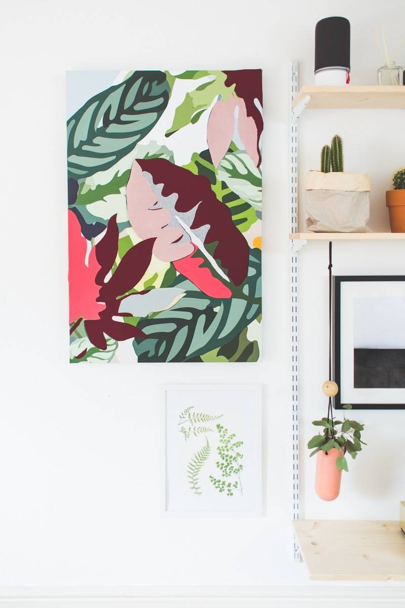 99 ways to use fabric to decorate your home   Fabric wall art