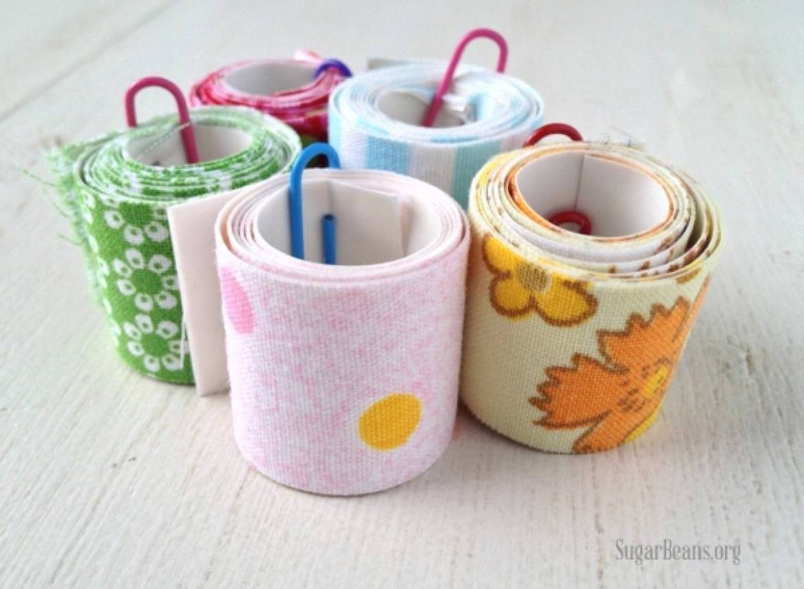 99 ways to use fabric to decorate your home   DIY fabric tape