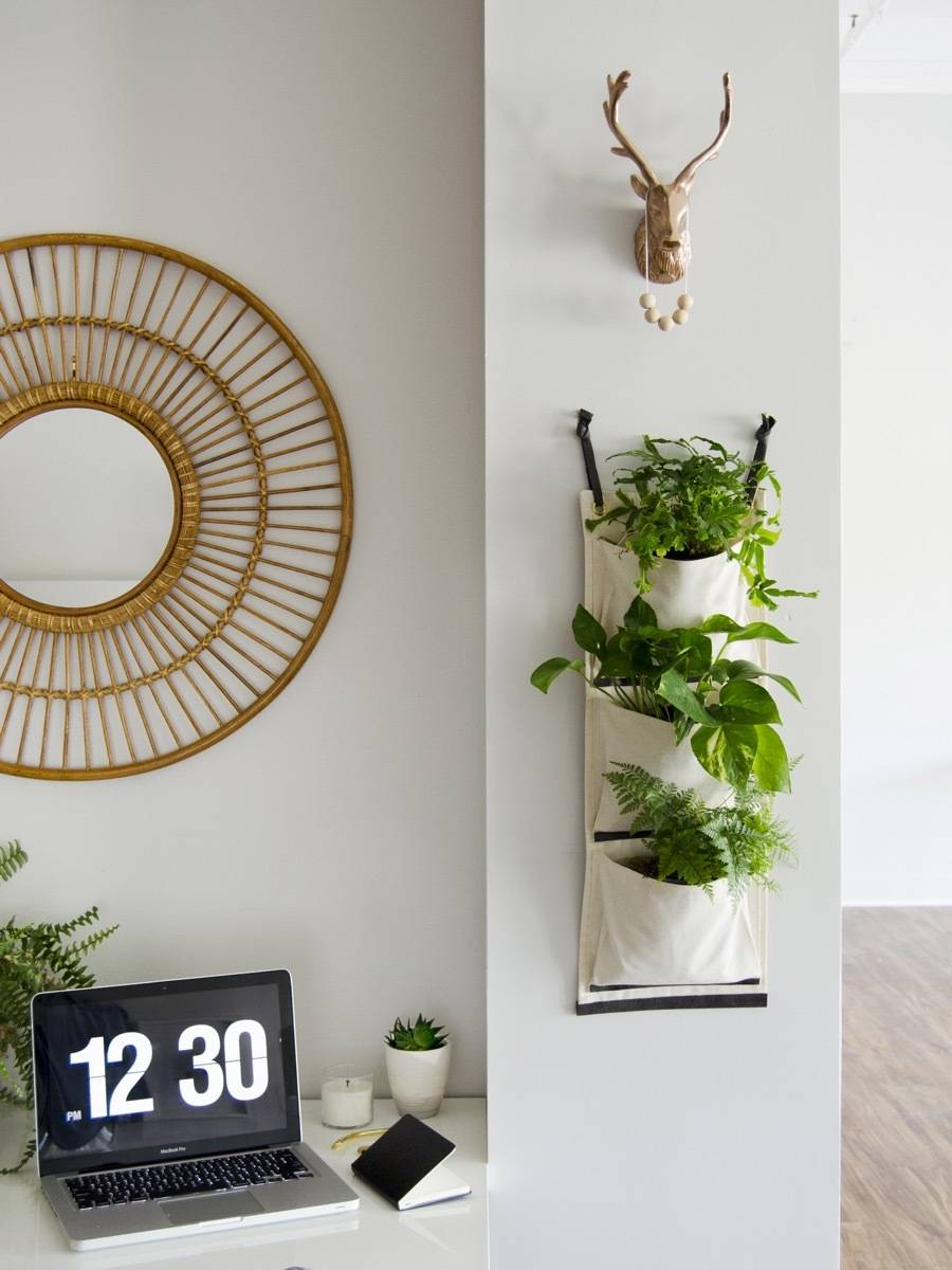 Make this simple fabric hanging planter