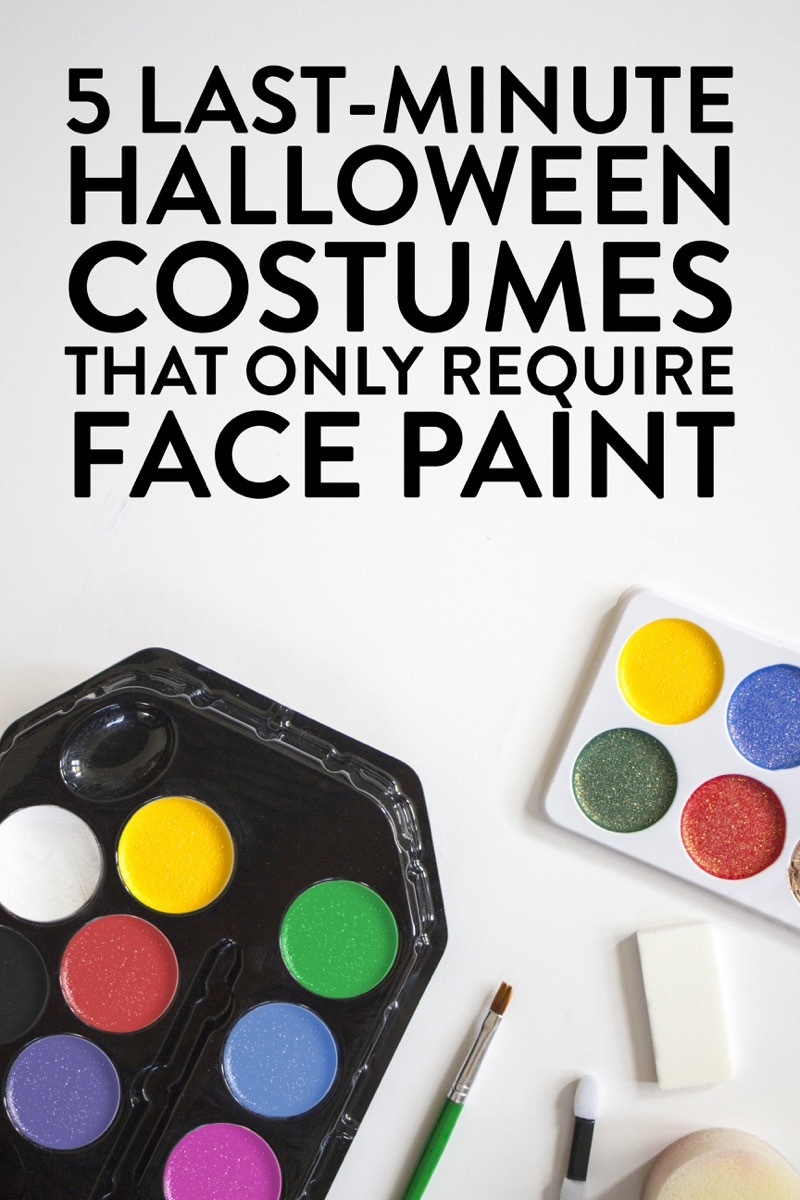 Five quick and easy costume ideas that only require a bit of face paint