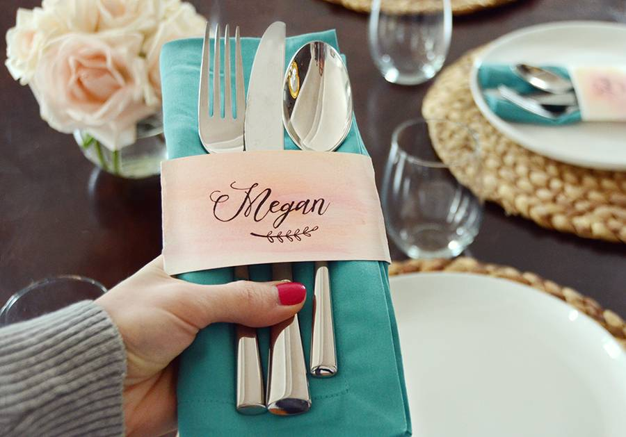 DIY Place Cards With Faux Calligraphy
