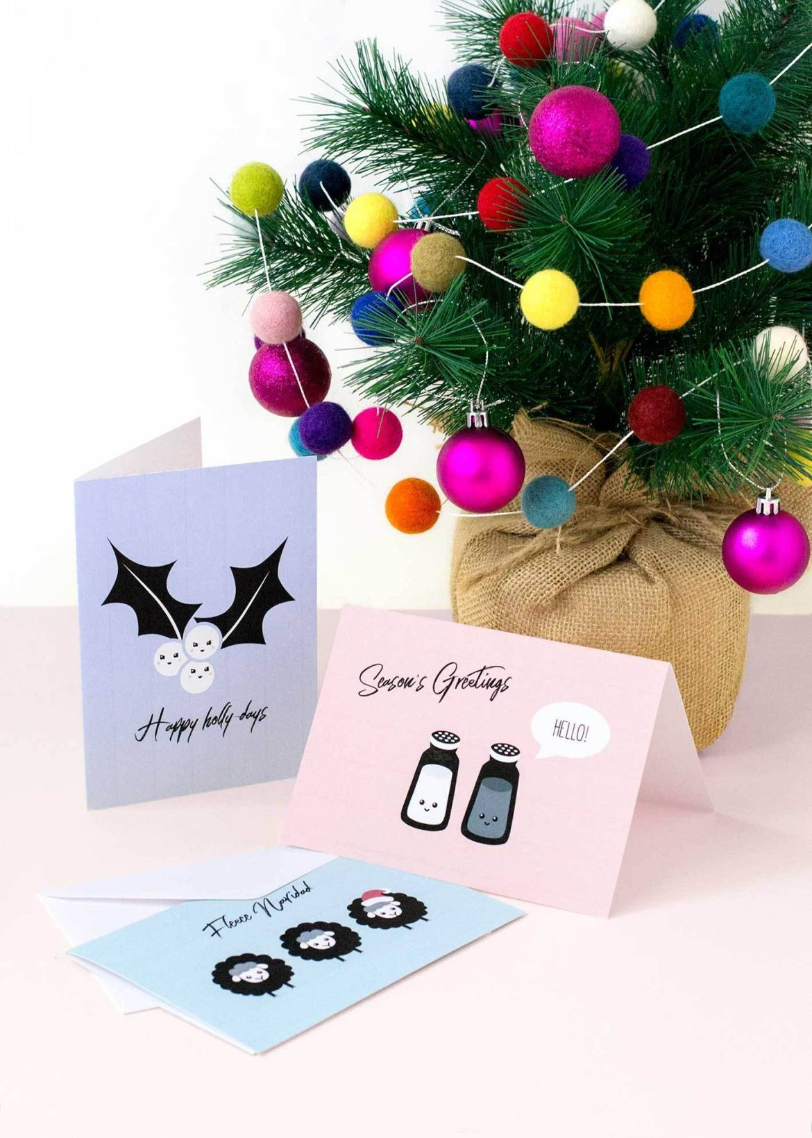 Punny Christmas cards with free printable!