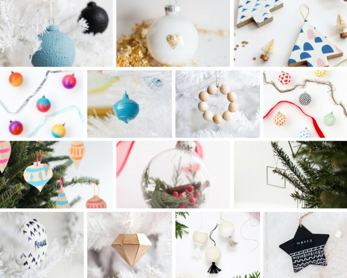 A mega roundup of DIY ornaments for your Christmas tree, whatever the theme may be!