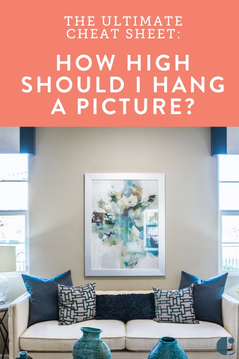 How high to hang pictures? Wall art placement tips