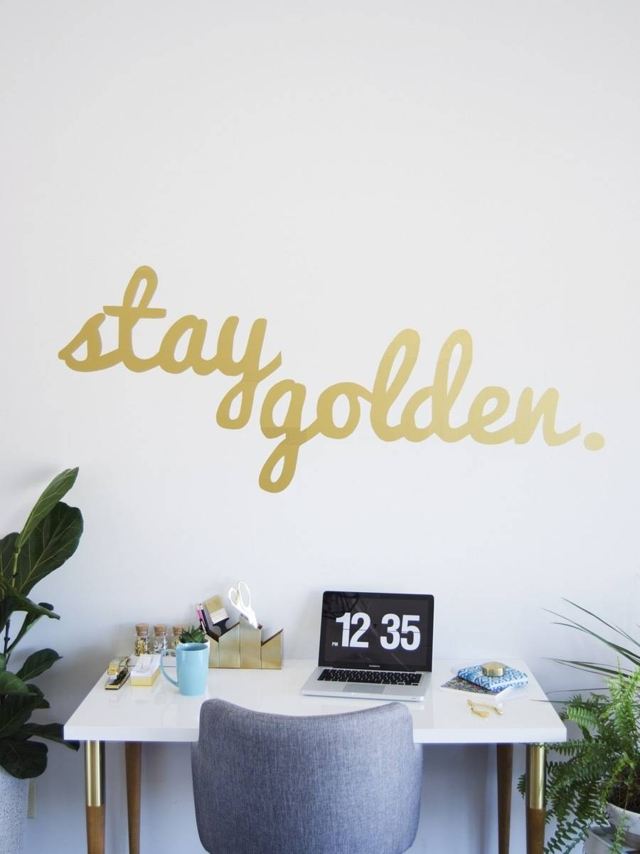 Curbly's Best DIY Projects of 2017: Custom Vinyl Wall Decals