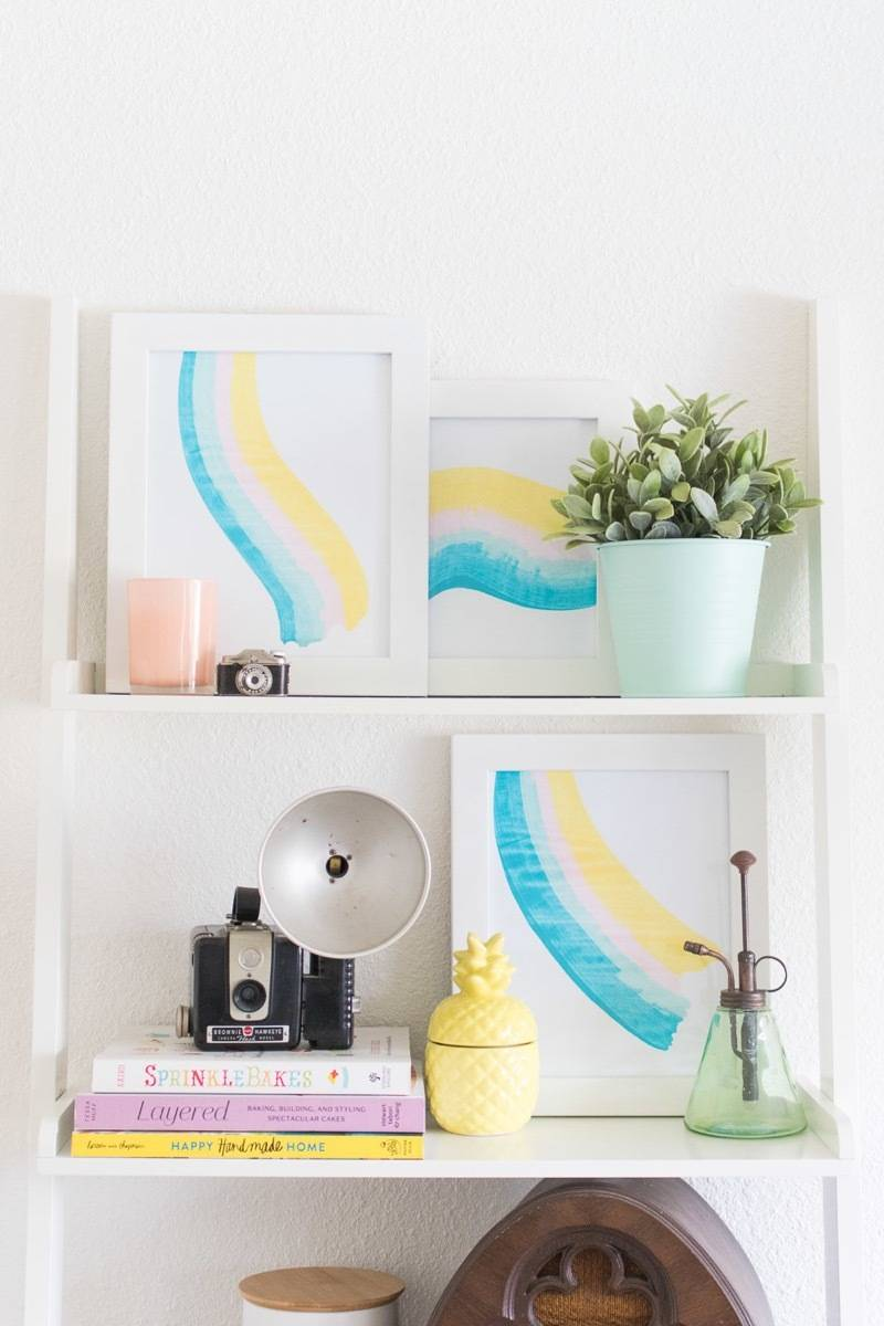 Curbly's Best DIY Projects of 2017: Paint Scrape Art