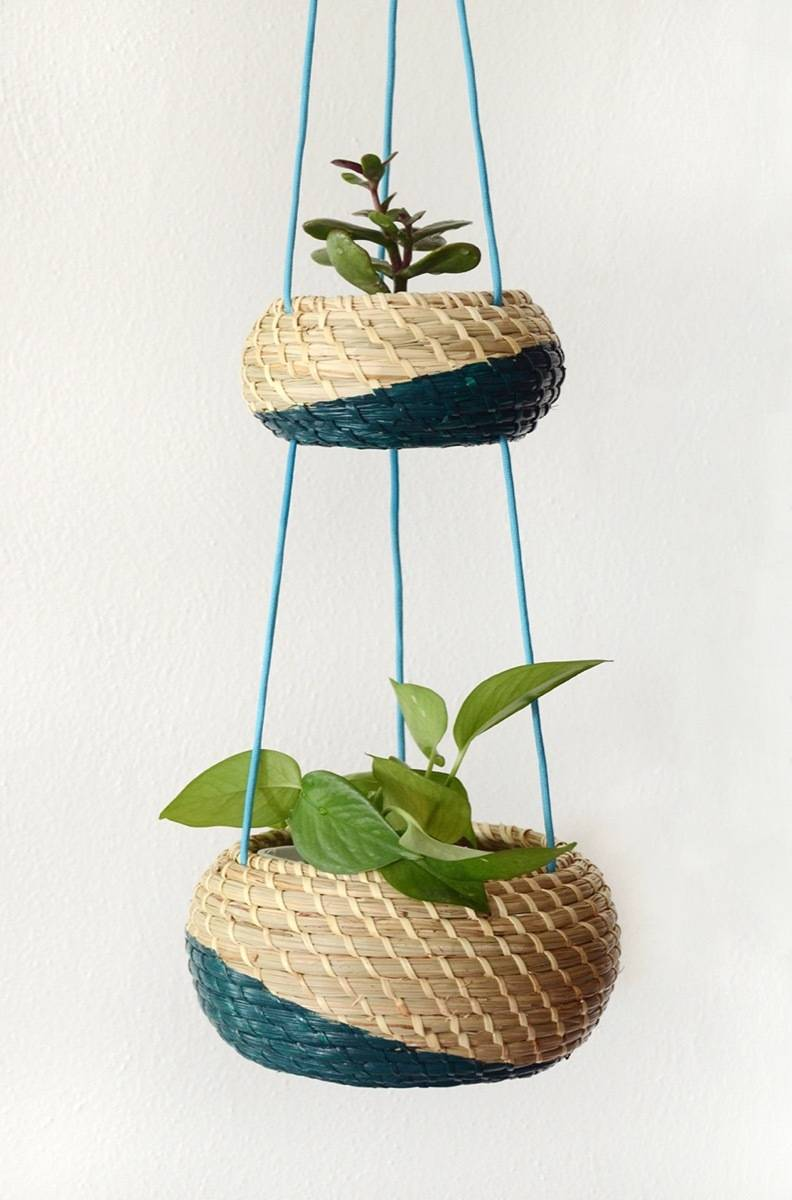 Curbly's Best DIY Projects of 2017: IKEA Hack Hanging Baskets