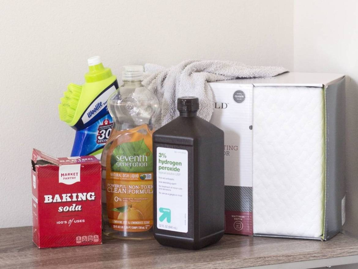 What you'll need for cleaning your mattress (most items you'll already have in your home)
