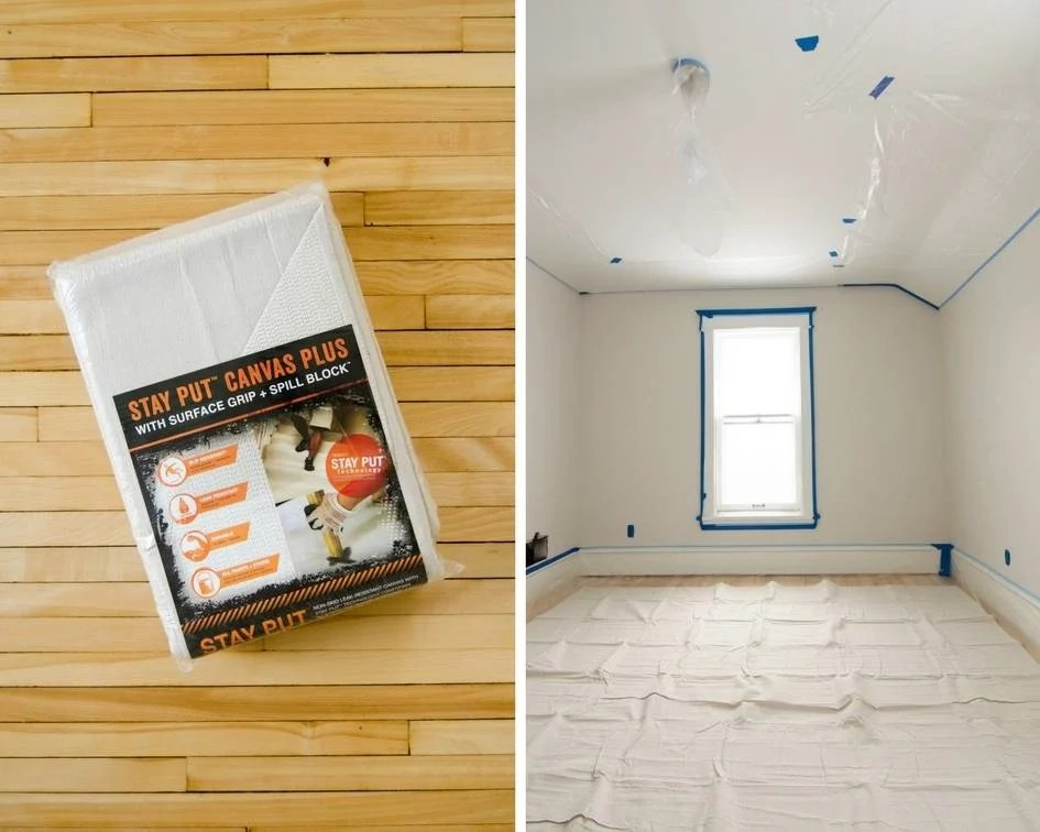 Prepping a Room for a Paint Sprayer - Flooring