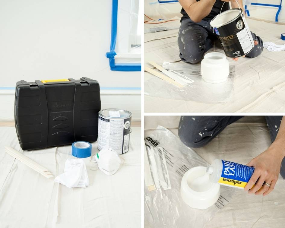 Using a Paint Sprayer to Paint a Room