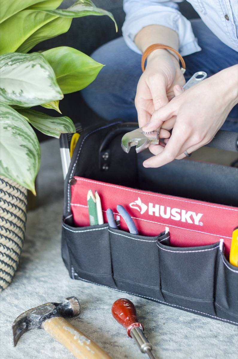 Stay organized by utilizing more than one tool bag