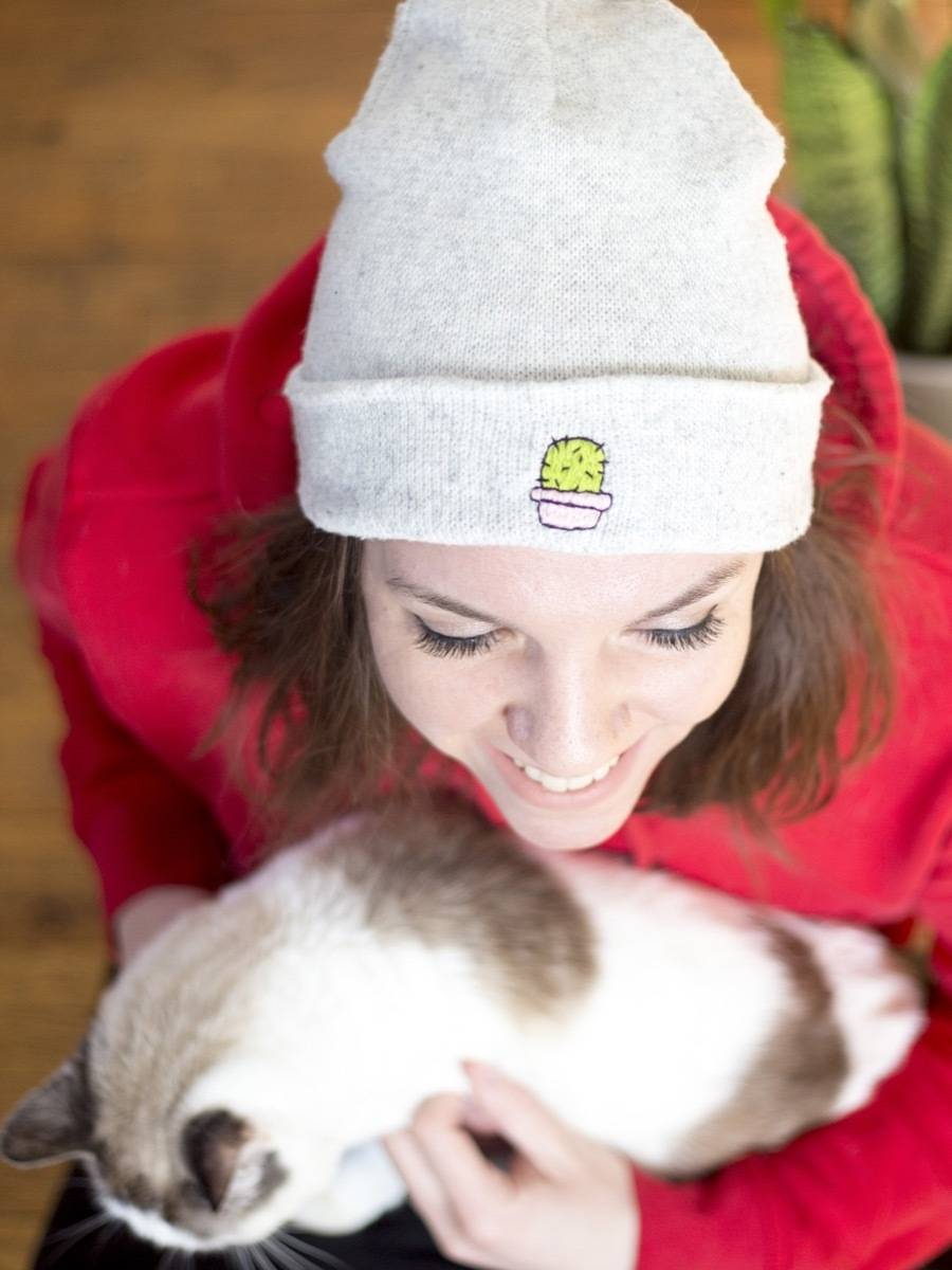 Don't be a prick! Learn how to embroider your beanie cap!