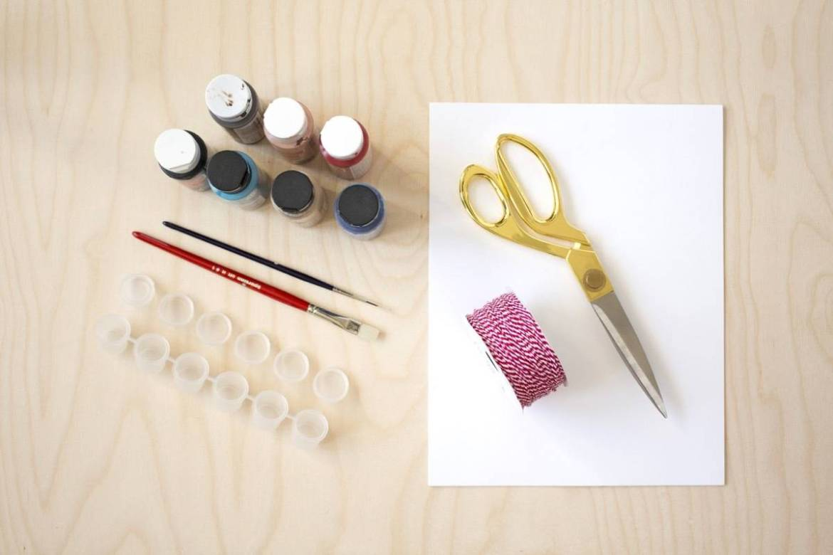 What you'll need to make your own paint-by-number kit