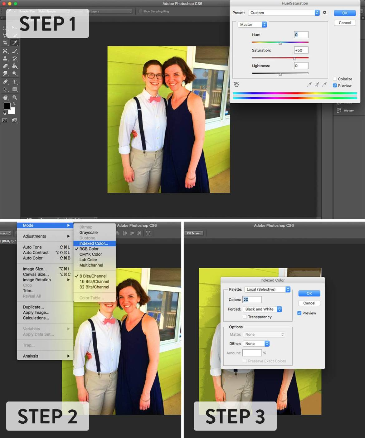 How to use Photoshop to flatten colors in an image