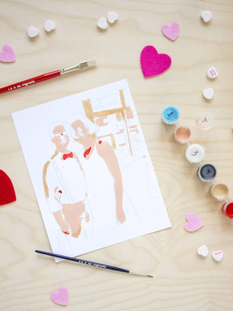 Create a paint-by-number kit starring you and your sweetheart