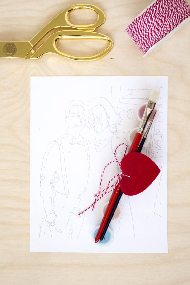 Make your own DIY paint-by-number kit featuring... you and your boo!