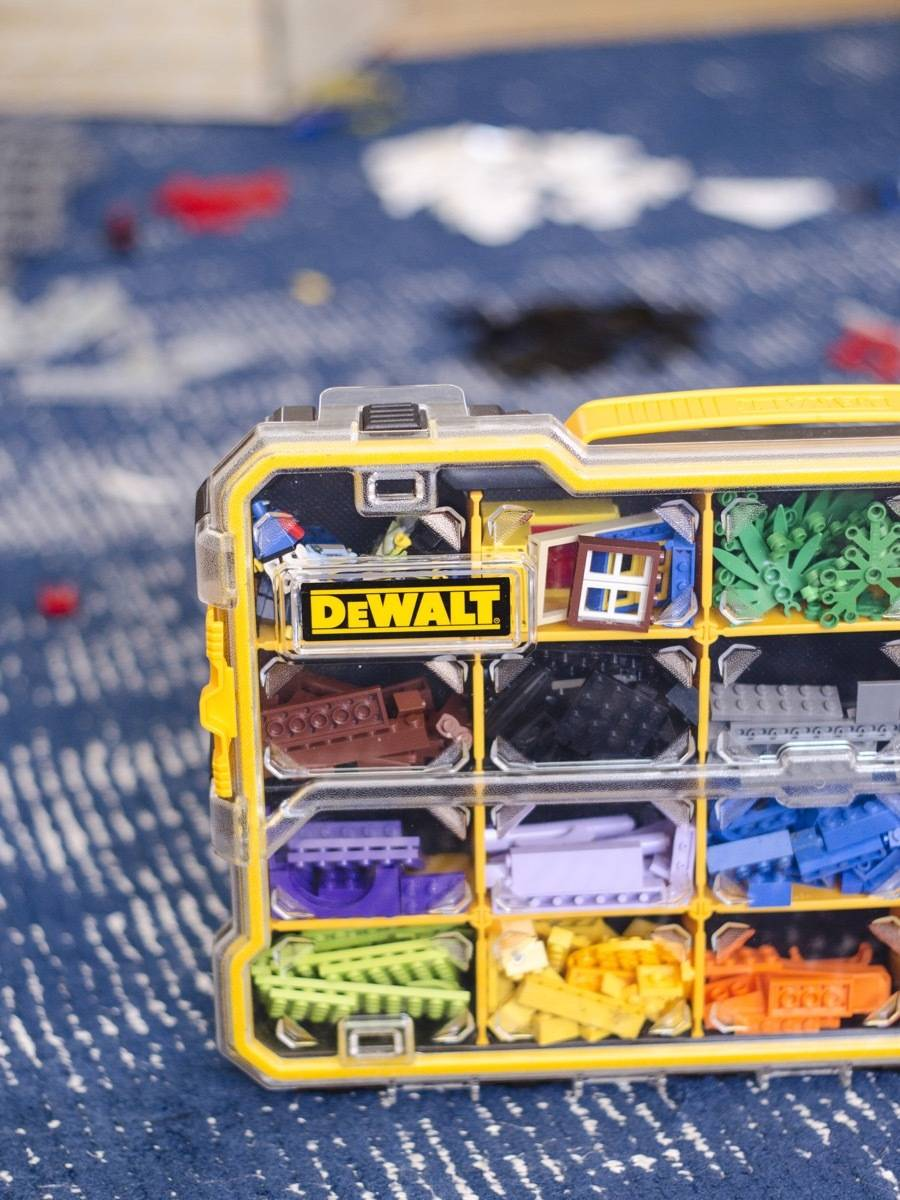 Not just for tools! The Dewalt Small Parts Organizer was basically built for Legos