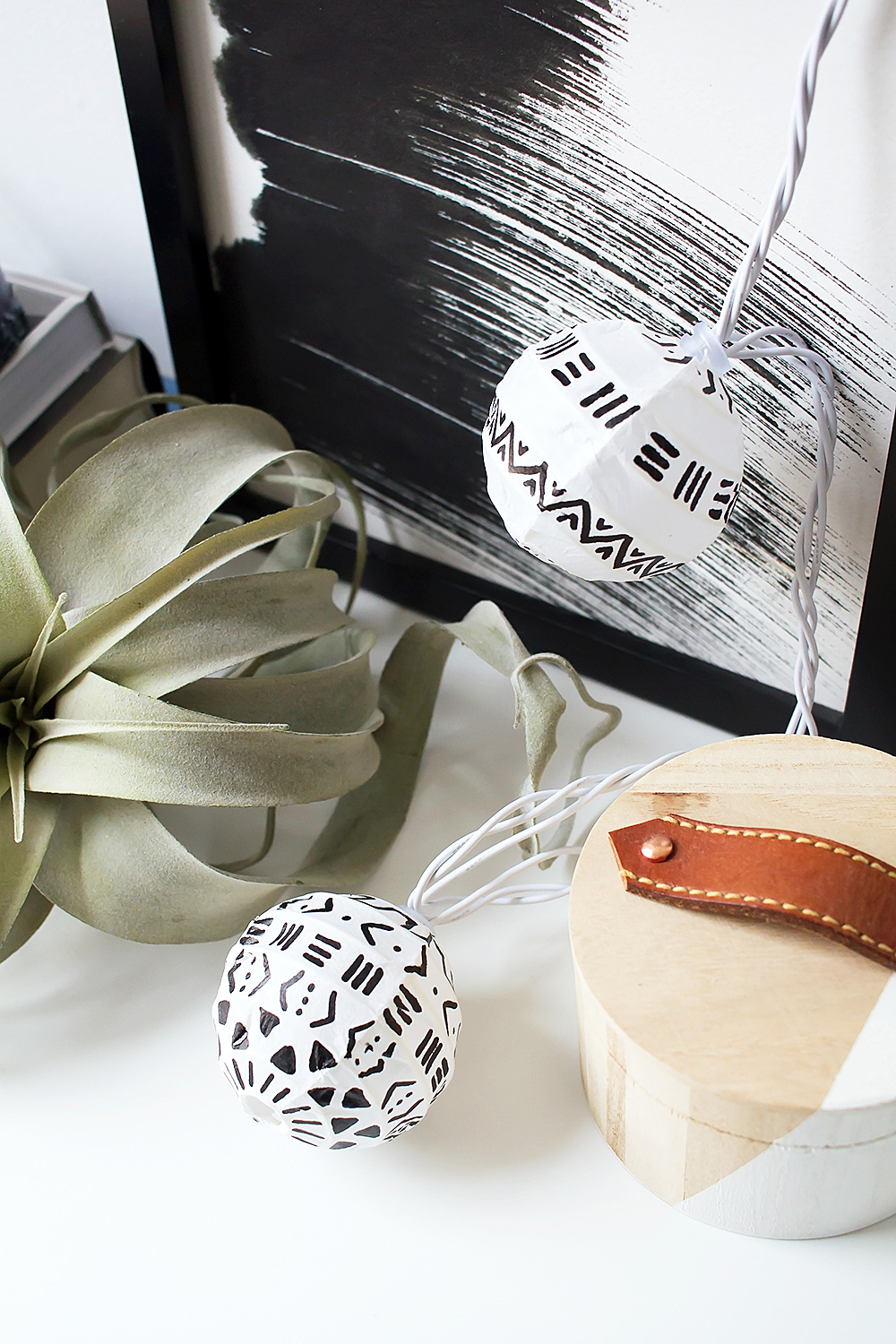 DIY Mud Cloth Paper Lanterns
