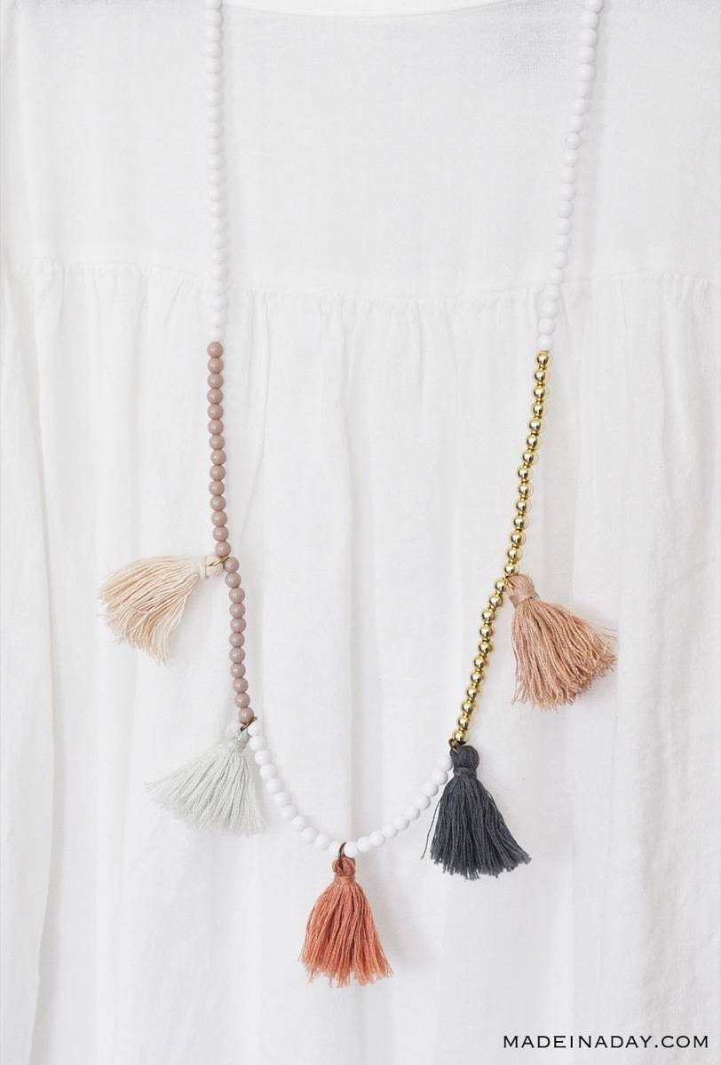DIY Mother's Day Gift Ideas: Tassel necklace