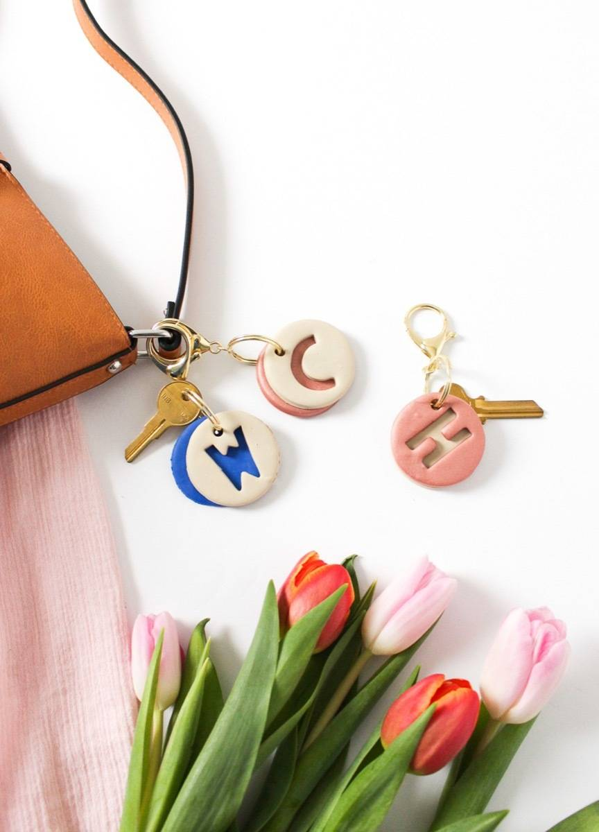 DIY Mother's Day Gift Ideas: Clay keychains
