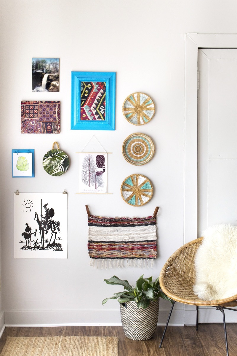 Gallery wall made from thrifted items!