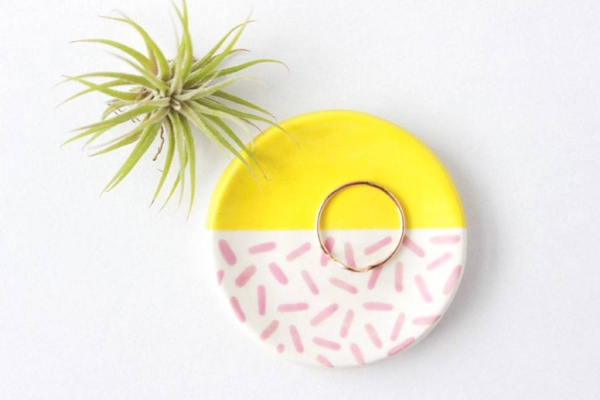 Mini patterend ring dish from Quiet Clementine