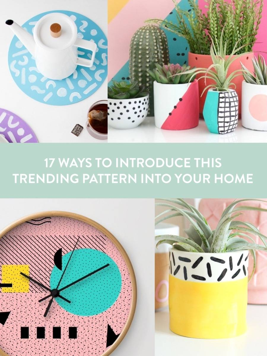 17 temporary ways to use Memphis design in your home