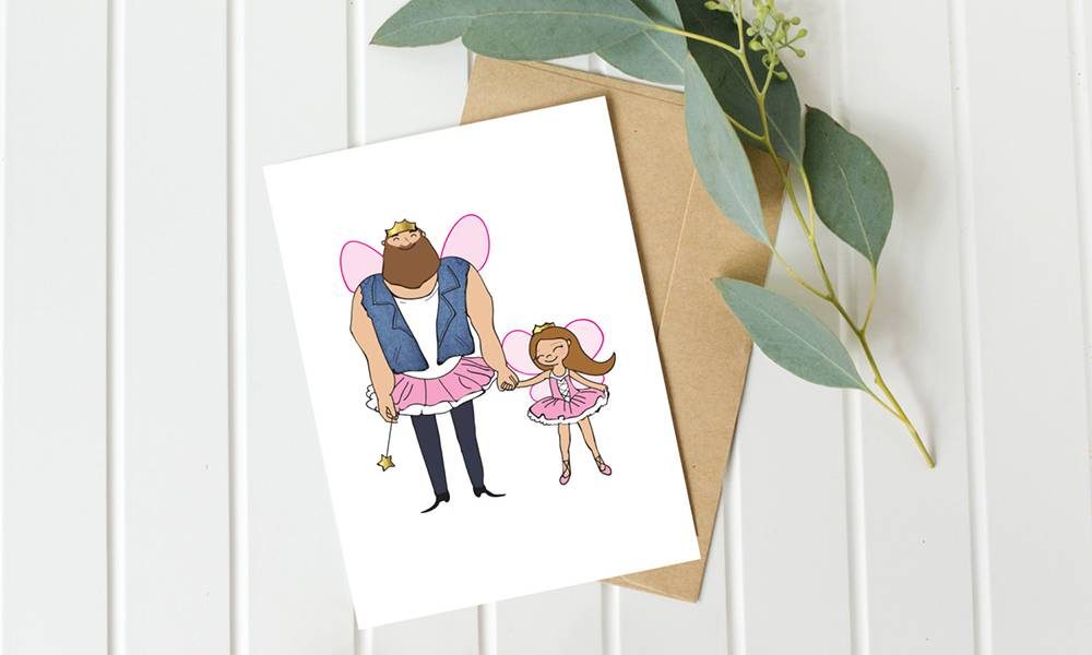 Daddy's Little Girl Father's Day card